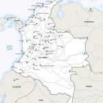Vector Map Of Colombia Political | One Stop Map In Printable Map Of Colombia