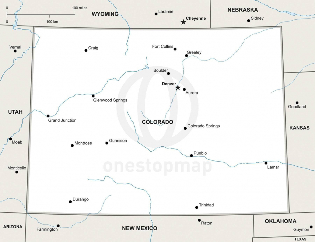 Vector Map Of Colorado Political | One Stop Map throughout Printable Map Of Colorado