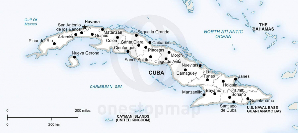 Vector Map Of Cuba Political | One Stop Map intended for Printable Outline Map Of Cuba