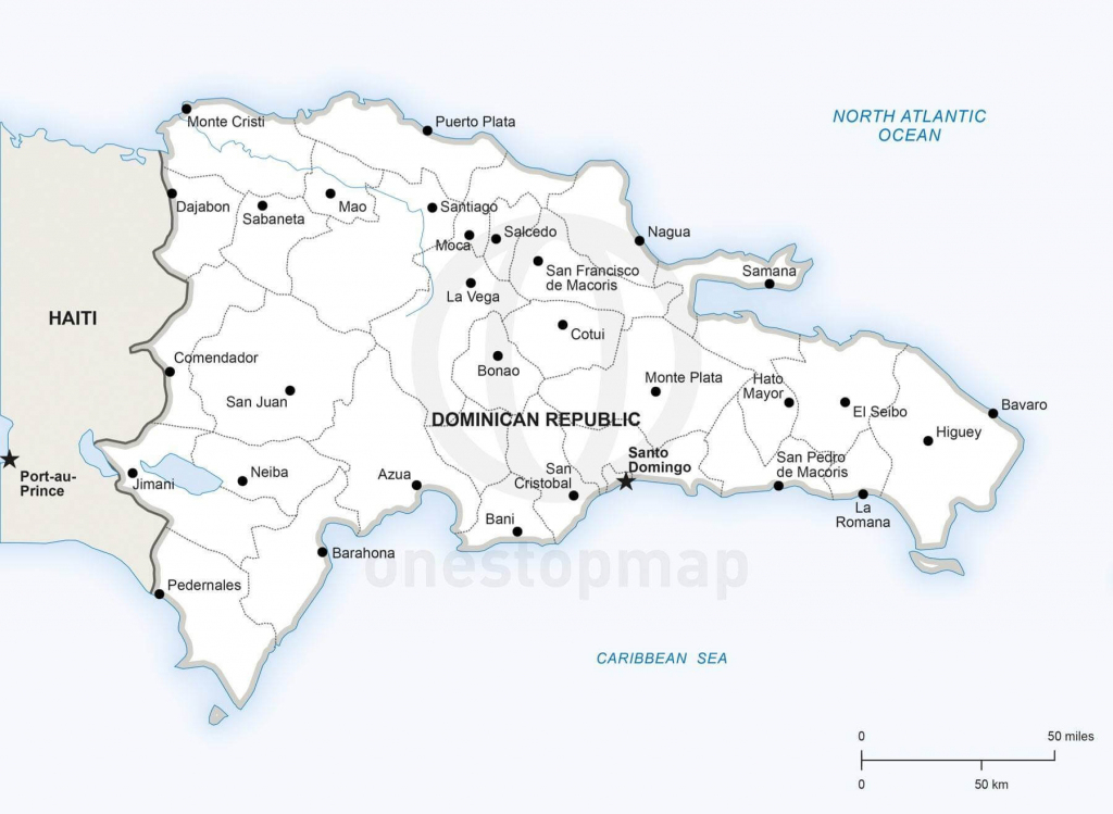 Vector Map Of Dominican Republic Political | One Stop Map inside Printable Map Of Dominican Republic