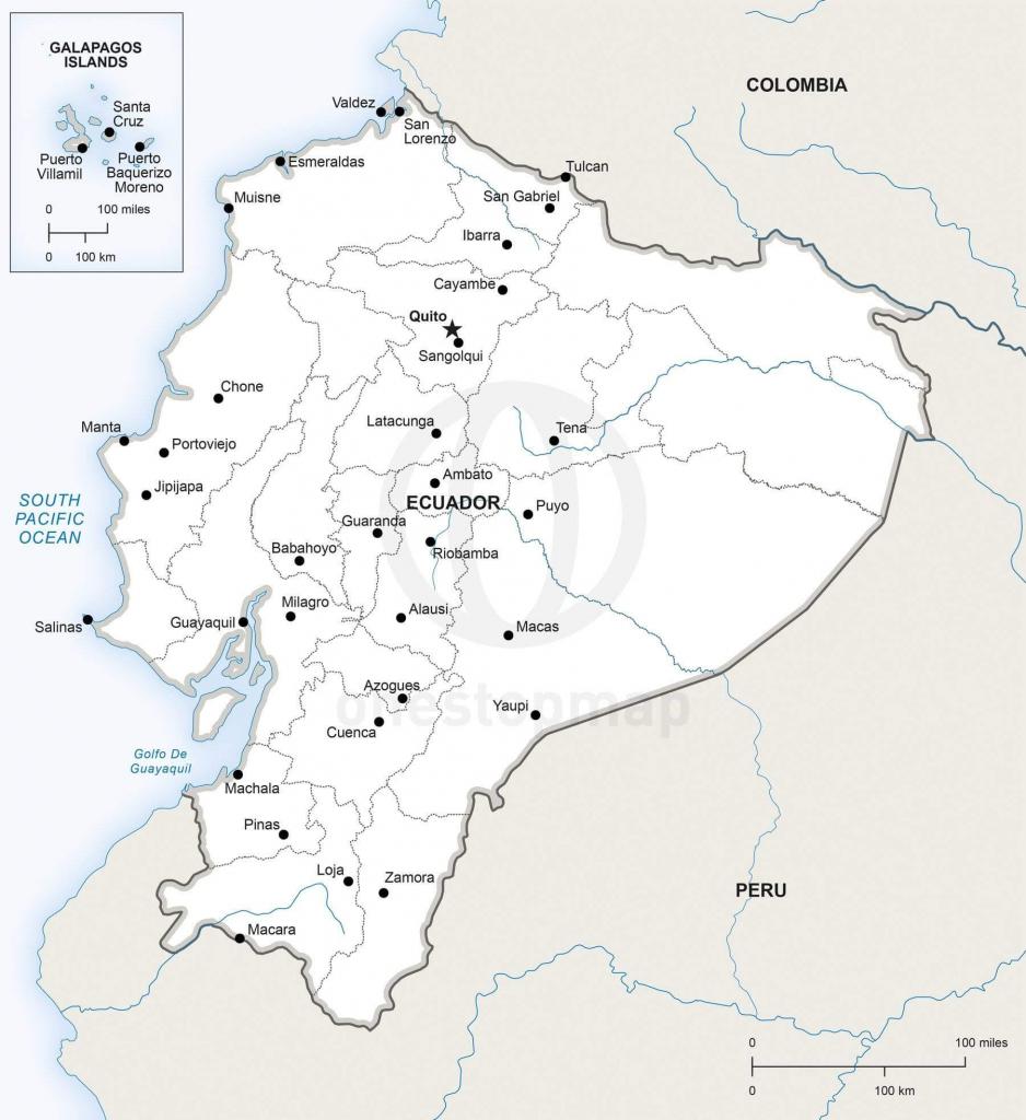 Vector Map Of Ecuador Political | One Stop Map throughout Printable Map Of Ecuador