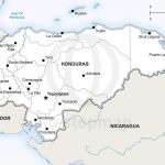 Vector Map Of Honduras Political | One Stop Map With Printable Map Of Honduras