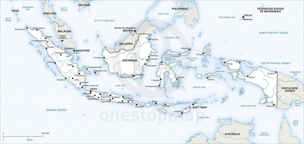 Vector Map Of Indonesia Political | One Stop Map for Printable Map Of Indonesia