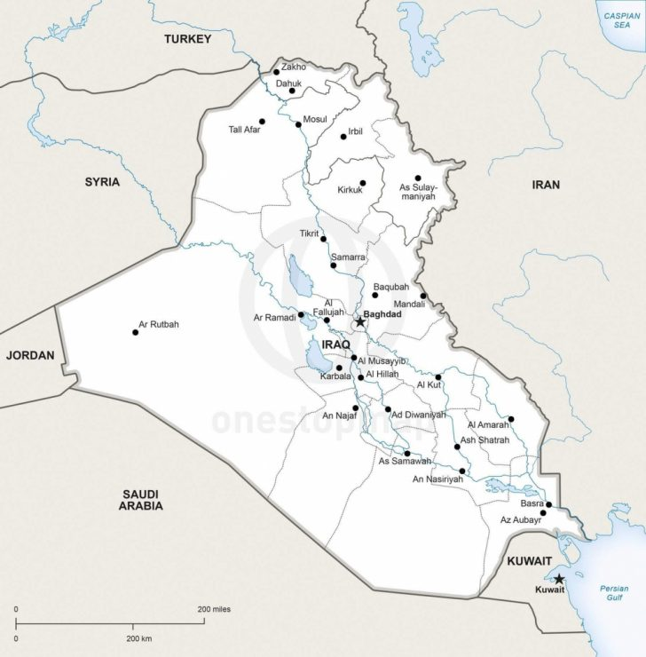 Printable Map Of Iraq