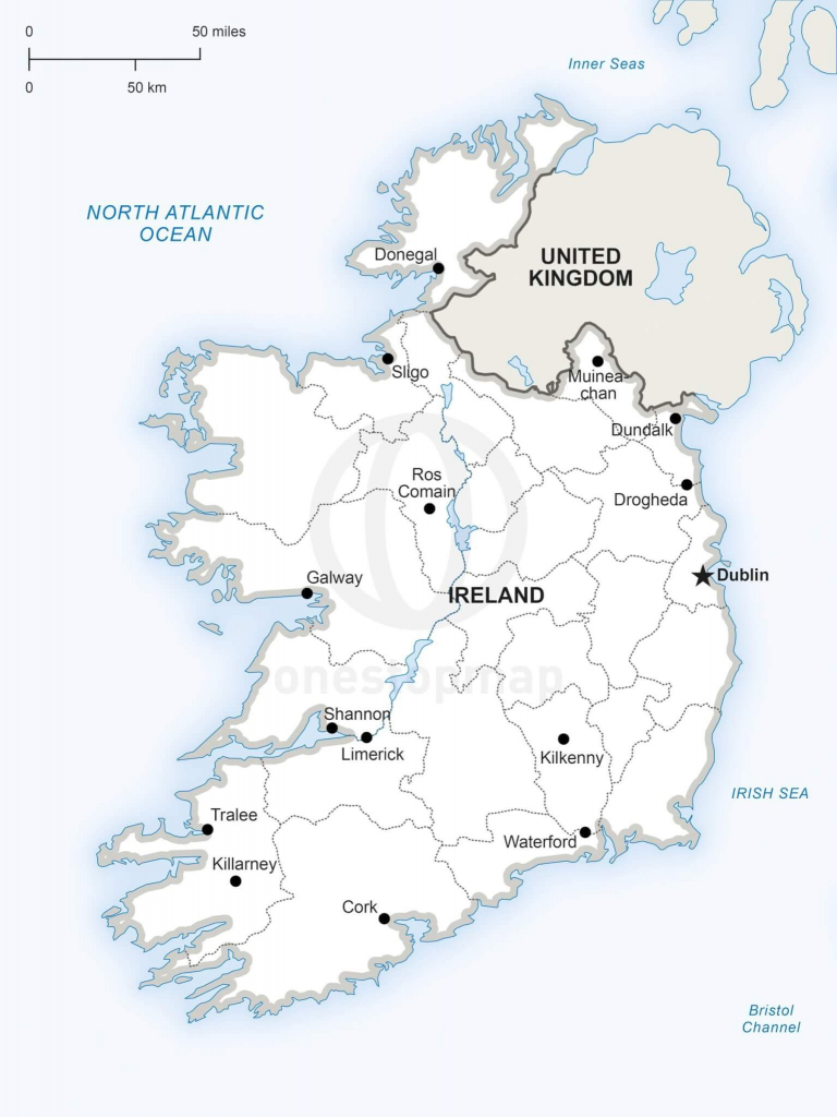 Vector Map Of Ireland Political | One Stop Map intended for Printable Map Of