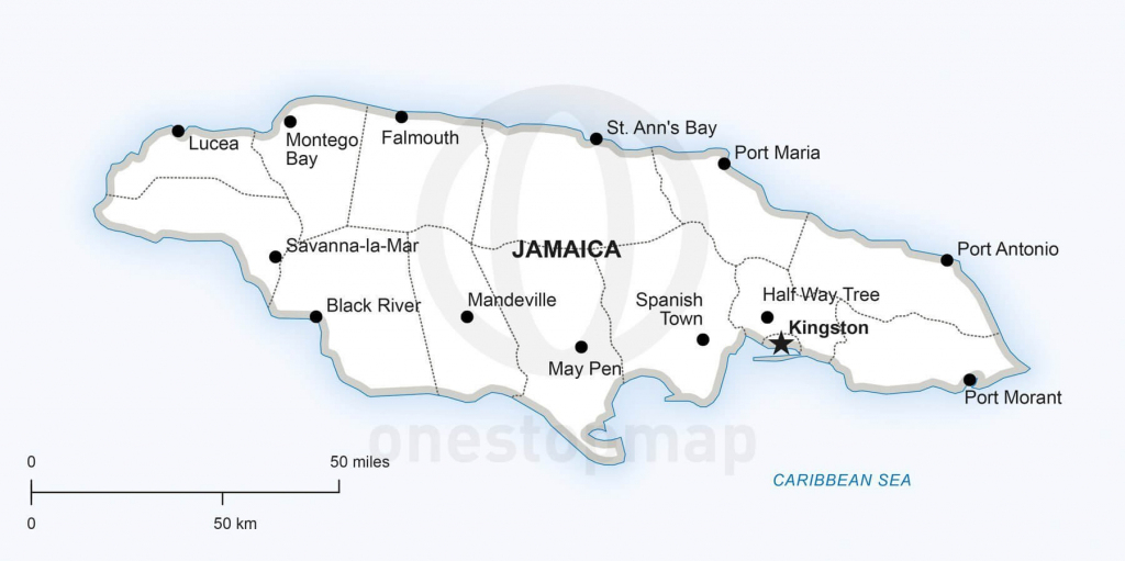 Vector Map Of Jamaica Political | One Stop Map for Printable Map Of Jamaica