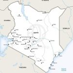Vector Map Of Kenya Political | One Stop Map Throughout Printable Map Of Kenya