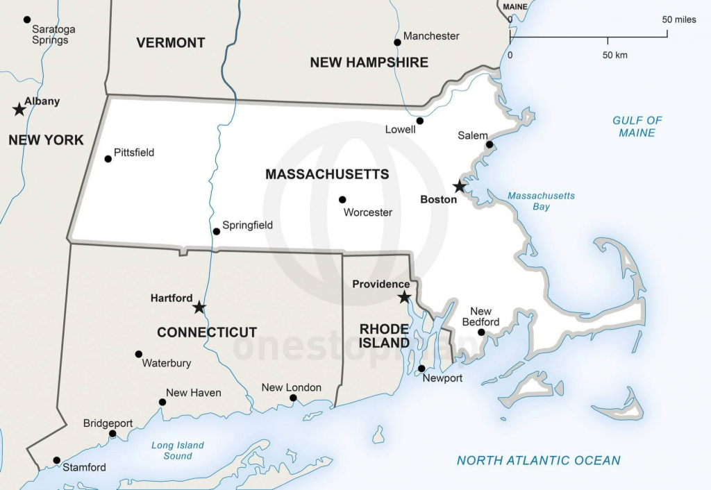 Vector Map Of Massachusetts Political | One Stop Map intended for Printable Map Of Massachusetts