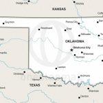 Vector Map Of Oklahoma Political | One Stop Map Regarding Printable Map Of Oklahoma