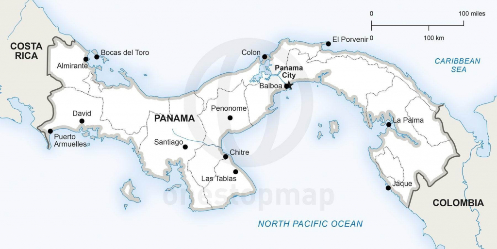Vector Map Of Panama Political | One Stop Map for Printable Map Of Panama