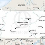 Vector Map Of Pennsylvania Political | One Stop Map Throughout Printable Map Of Pennsylvania
