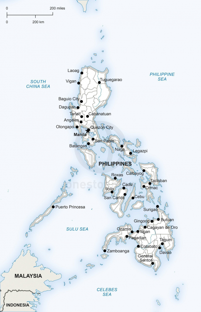 Vector Map Of Philippines Political In 2019 | Philippines: Maps intended for Printable Quezon Province Map
