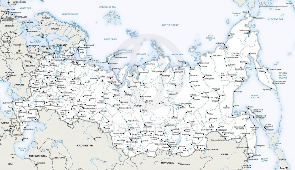 Vector Map Of Russia Political | One Stop Map within Free Printable Map Of Russia
