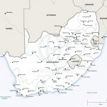 Vector Map Of South Africa Political | One Stop Map In Free Printable Political Map Of Africa