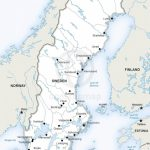 Vector Map Of Sweden Political | One Stop Map In Printable Map Of Sweden