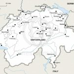 Vector Map Of Switzerland Political | One Stop Map With Printable Map Of Switzerland
