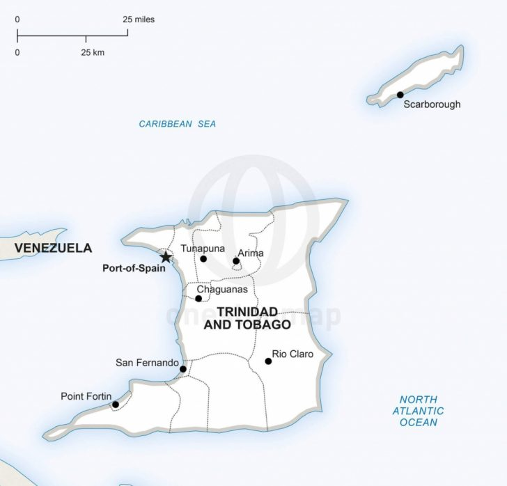 Printable Map Of Trinidad And Tobago