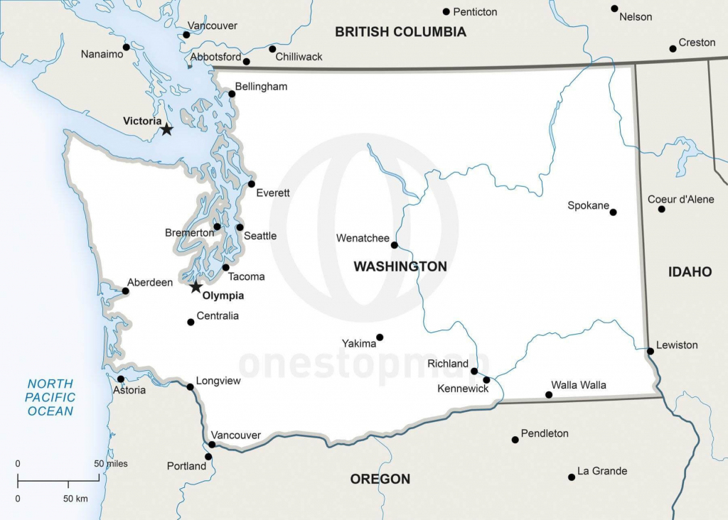 Vector Map Of Washington Political | One Stop Map with regard to Printable Map Of Washington State