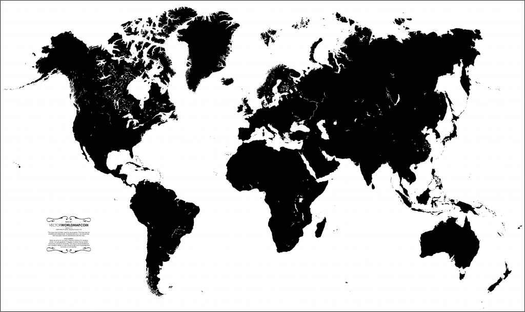 Vector World Map: A Free, Accurate World Map In Vector Format in Flat Map Of World Printable