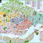 Venice Attractions Map Pdf   Free Printable Tourist Map Venice Inside Printable Walking Map Of Venice Italy