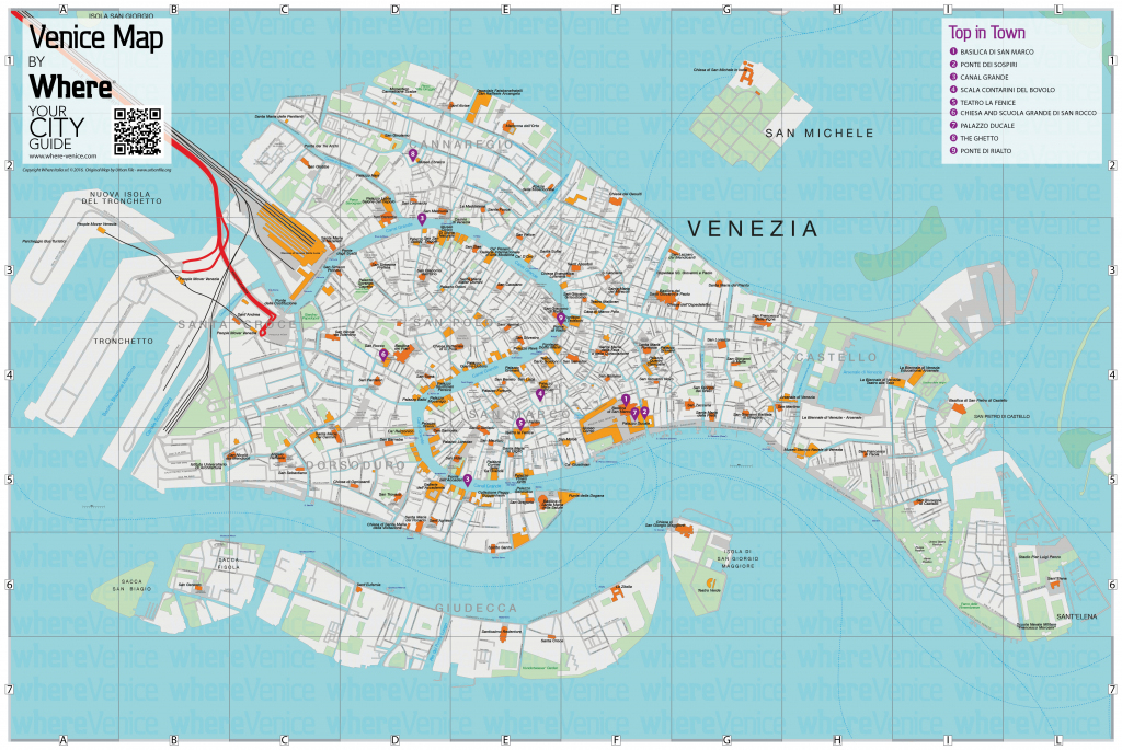 Venice City Map - Free Download In Printable Version | Where Venice pertaining to Printable Walking Map Of Venice Italy