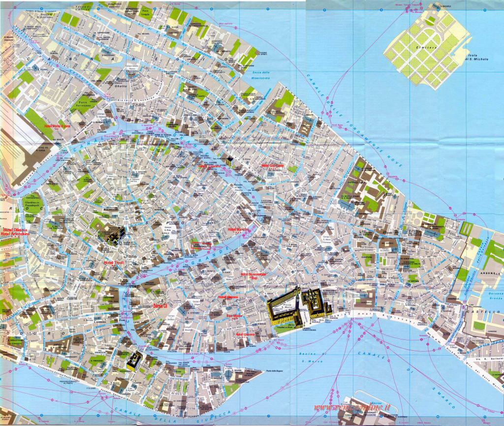 Venice Map And Travel Information | Download Free Venice Map for Venice Street Map Printable