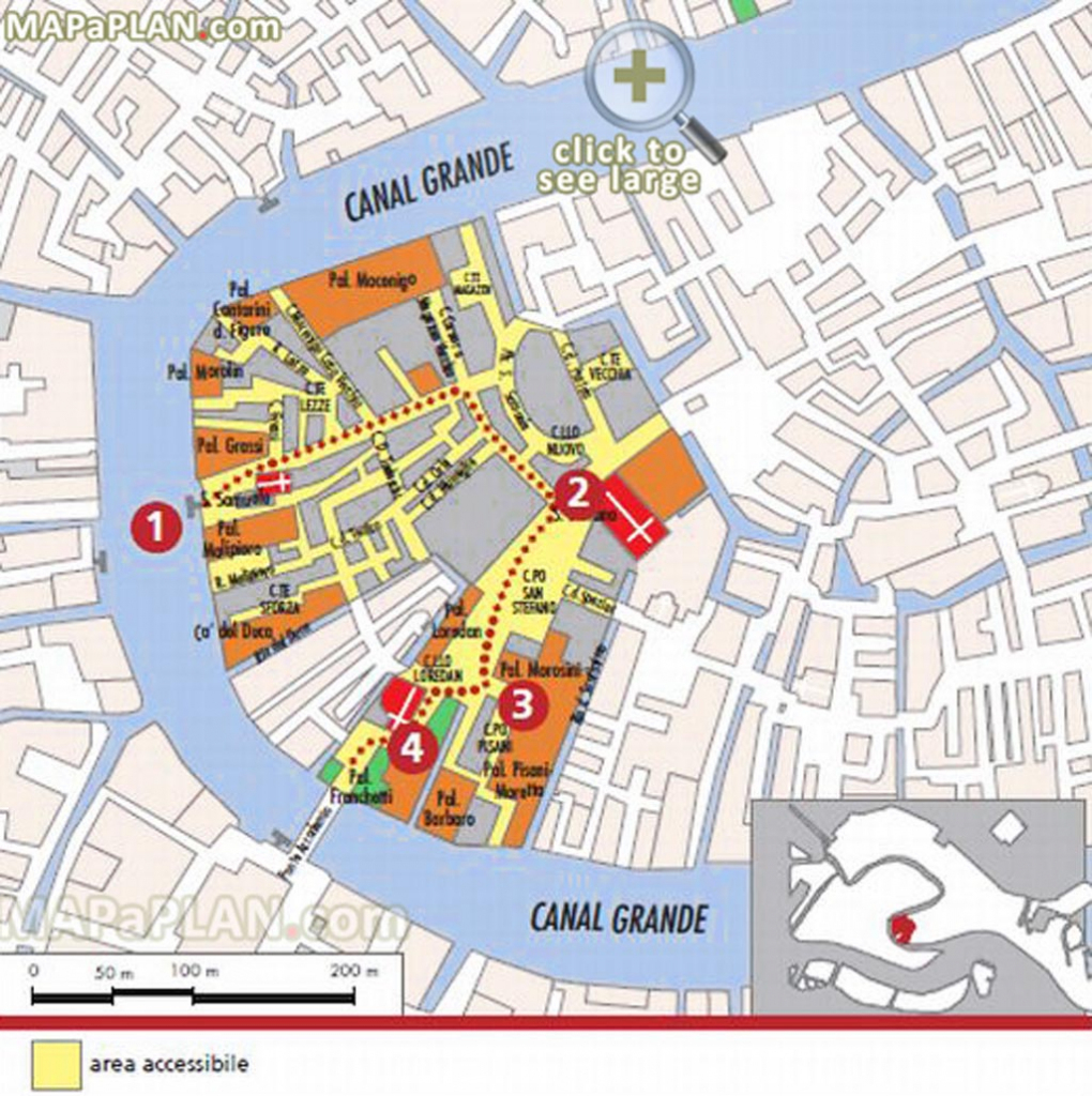 Venice Maps - Top Tourist Attractions - Free, Printable City Street Map throughout Printable Walking Map Of Venice Italy