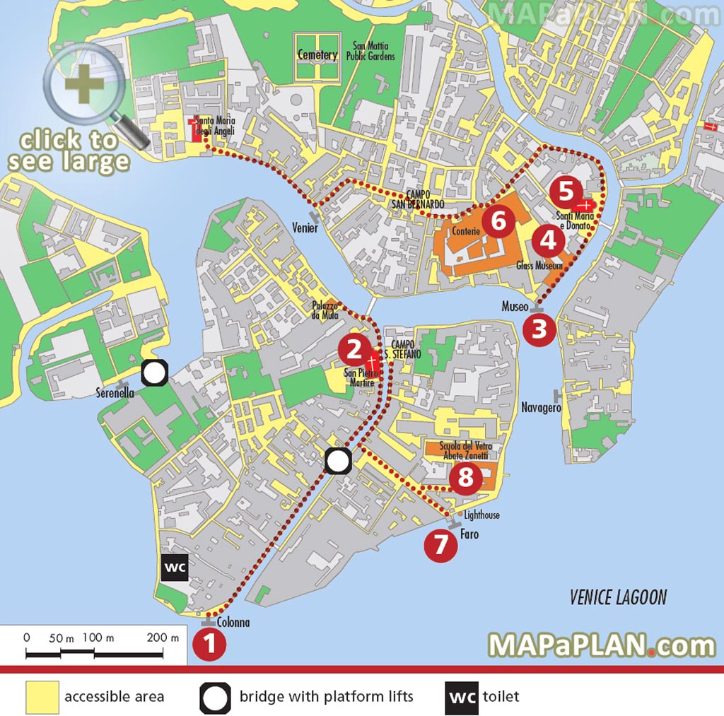 Venice Maps - Top Tourist Attractions - Free, Printable City Street Map within Printable Walking Map Of Venice Italy
