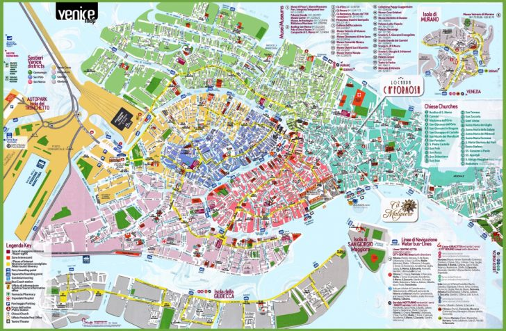 Printable Map Of Venice