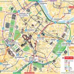 Vienna Map Ubahn Underground Subway Metro Stations Tram Stops With Vienna Tourist Map Printable