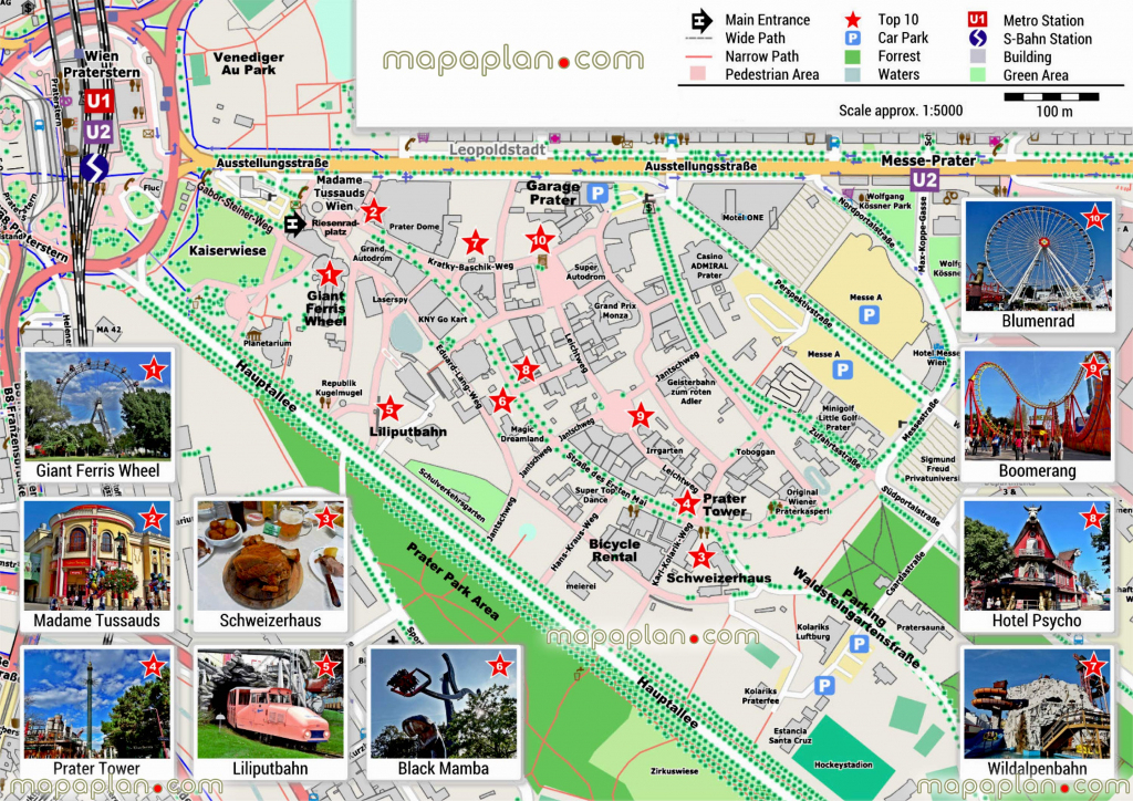 Vienna Maps - Top Tourist Attractions - Free, Printable City Street in Vienna Tourist Map Printable