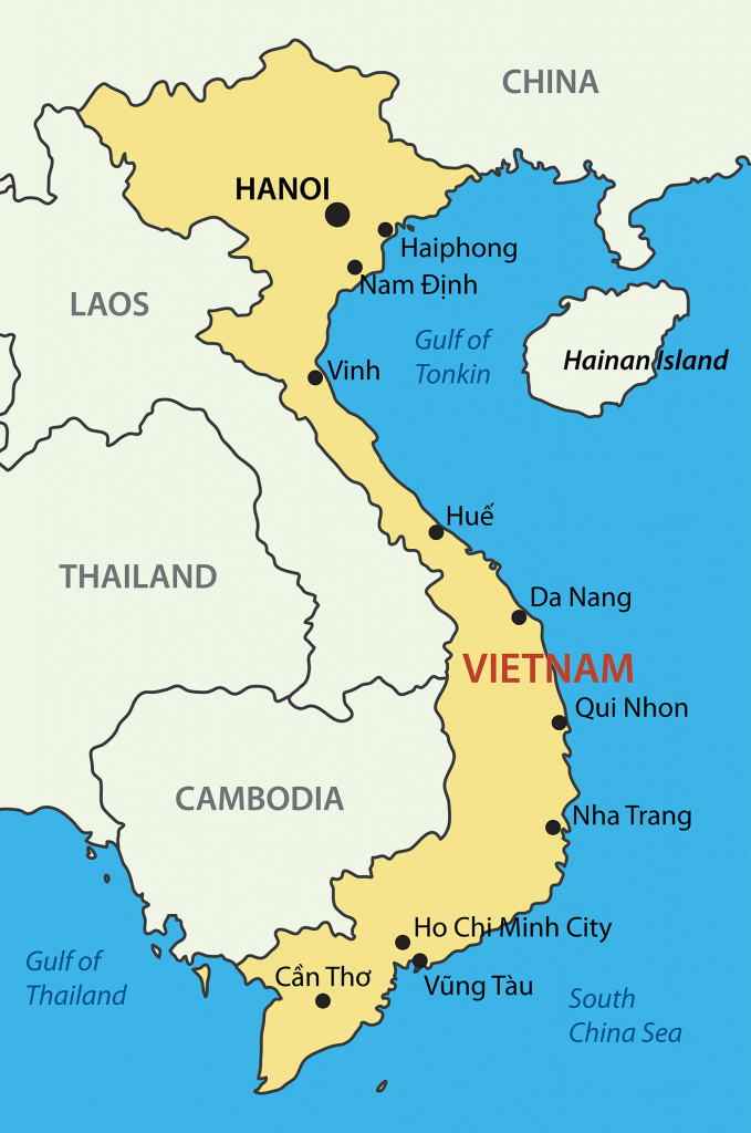 Vietnam Maps - Map Of All Areas In Vietnam with regard to Printable Map Of Vietnam
