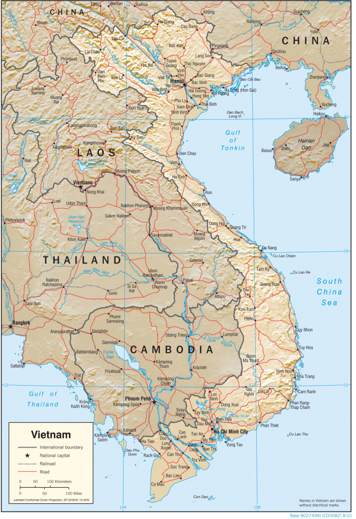 Vietnam Maps - Perry-Castañeda Map Collection - Ut Library Online with Printable Map Of Vietnam