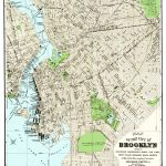 Vintage Guide Map And Directory Of Brooklyn From 1883   Knowol Pertaining To Printable Map Of Brooklyn