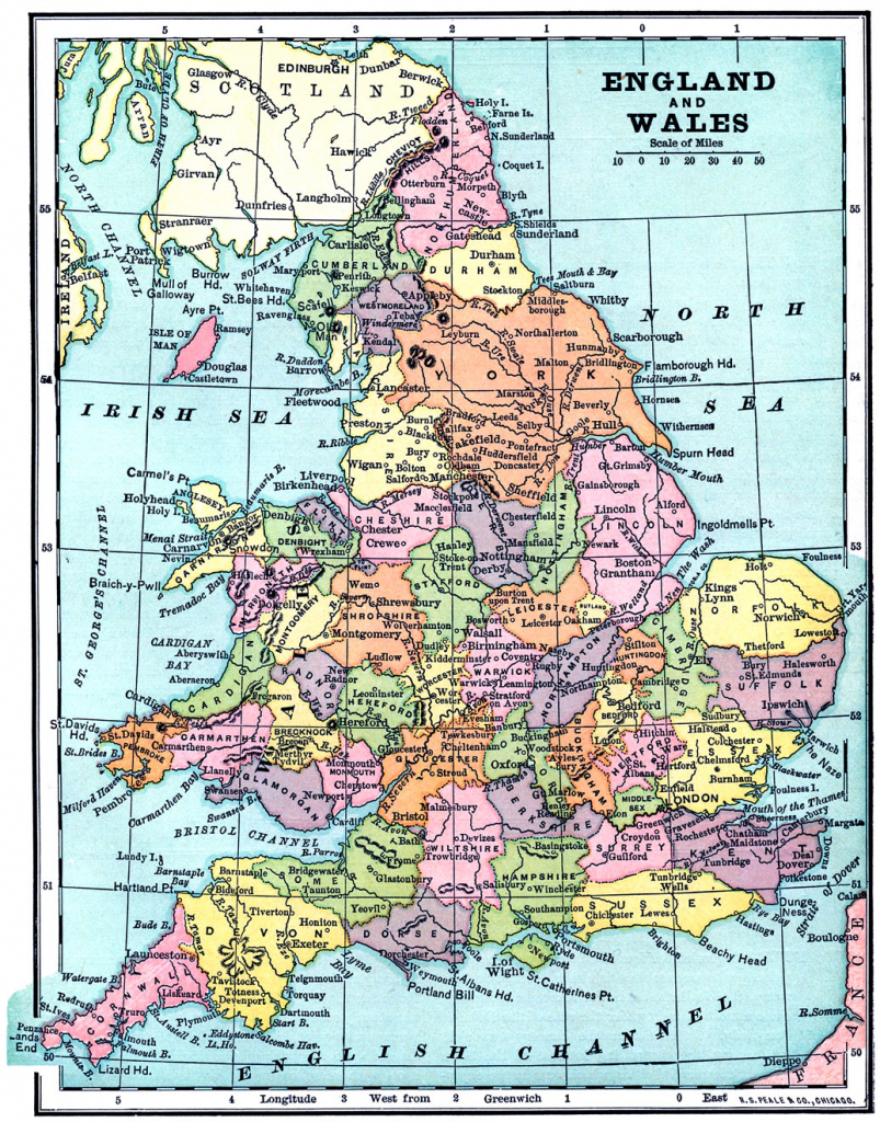 Vintage Printable - Map Of England And Wales - The Graphics Fairy for Printable Map Of England And Scotland