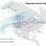 Virgin America Route Map Alaska Airlines At Flight Nextread Me Pertaining To Alaska Airlines Printable Route Map