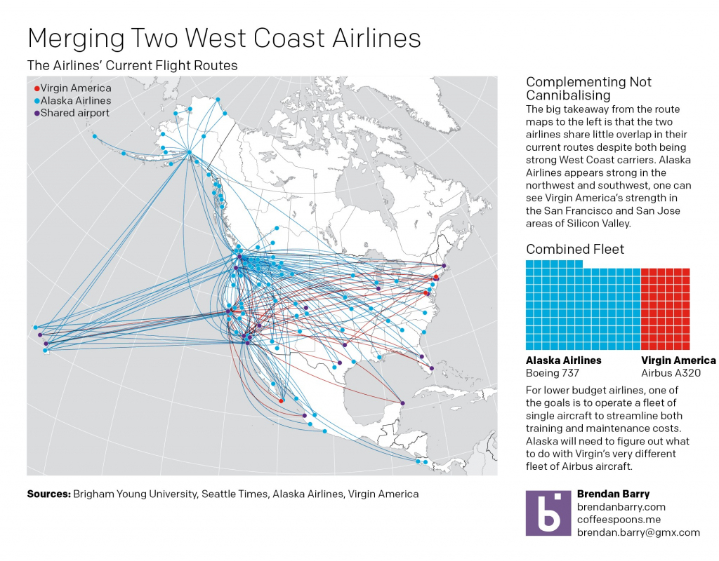 Virgin America Route Map Alaska Airlines At Flight Nextread Me throughout Alaska Airlines Printable Route Map