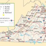 Virginia Highway Map In Virginia State Map Printable