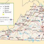 Virginia Highway Map In Virginia State Map Printable