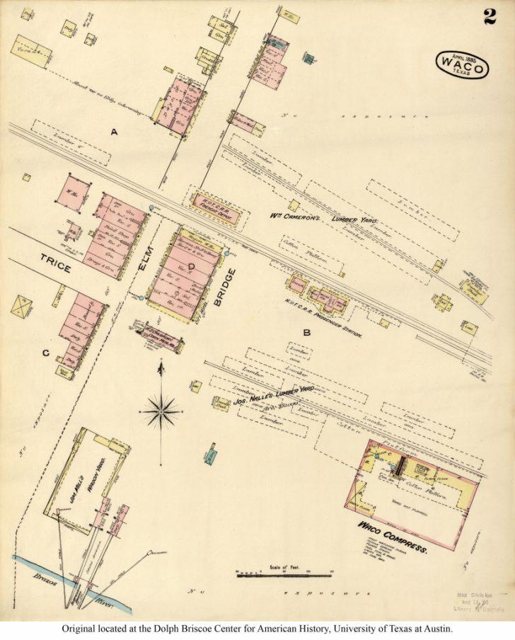 Printable Map Of Waco Texas