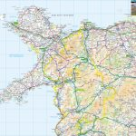 Wales Offline Map, Including Anglesey, Snowdonia, Pembrokeshire And Inside Printable Map Of Wales