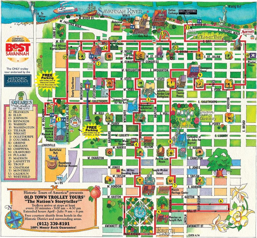 Walking Map Savannah Historic District | Map For Savannah Georgia intended for Printable Map Of Savannah Ga