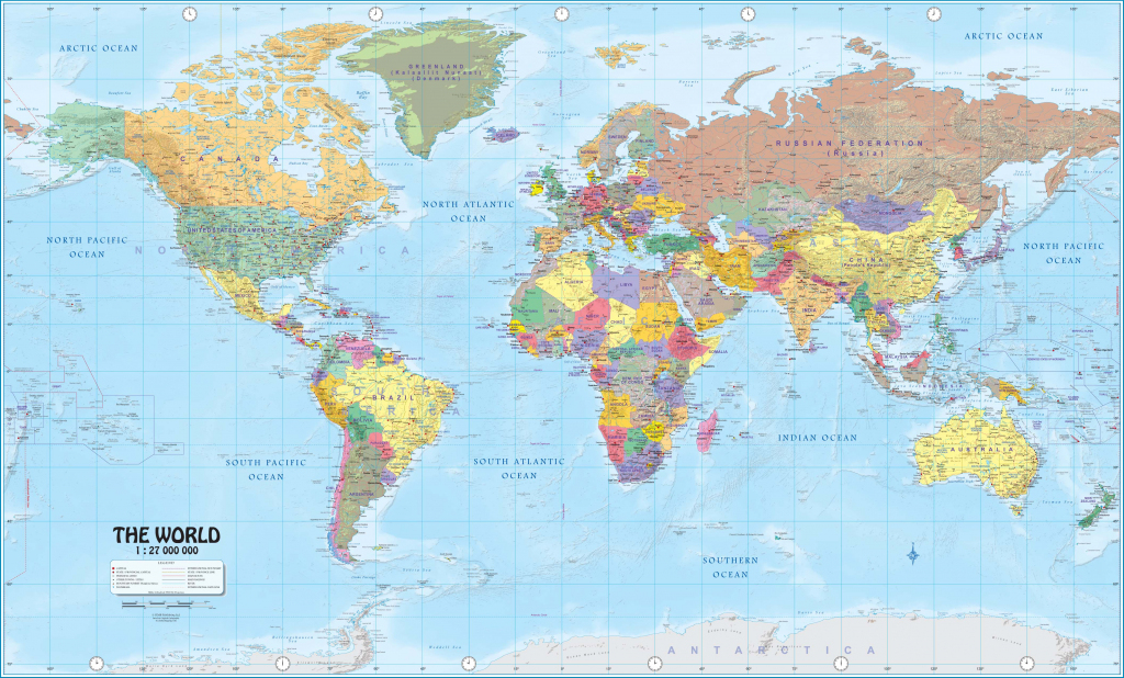 Wall Maps Of The World throughout Printable World Map Pacific Centered