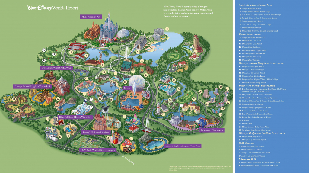 Walt Disney World Maps - Parks And Resorts In 2019 | Travel - Theme with Printable Maps Of Disney World Theme Parks