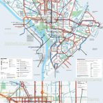 Washington Dc Map   Metrorail Metro Lines Transit (Subway Pertaining To Printable Dc Metro Map