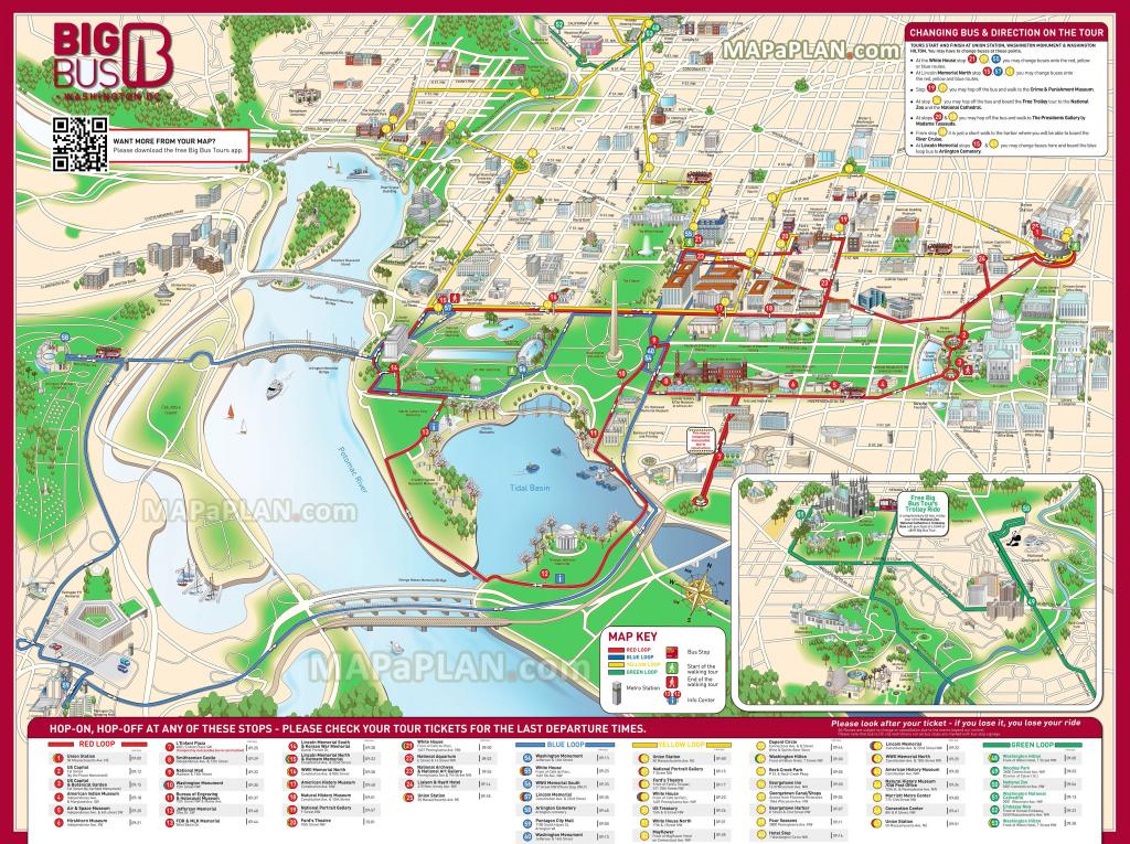 Washington Dc Maps - Top Tourist Attractions - Free, Printable City for Printable Walking Tour Map Of Washington Dc