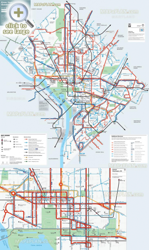 Washington Dc Maps - Top Tourist Attractions - Free, Printable City in Washington Dc City Map Printable