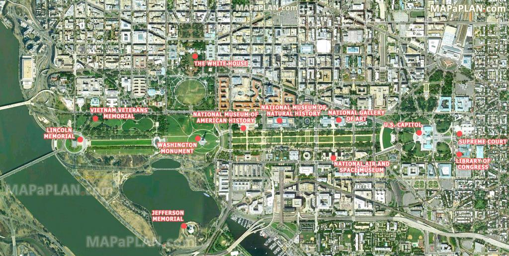 Washington Dc Maps - Top Tourist Attractions - Free, Printable City inside Printable Walking Tour Map Of Washington Dc