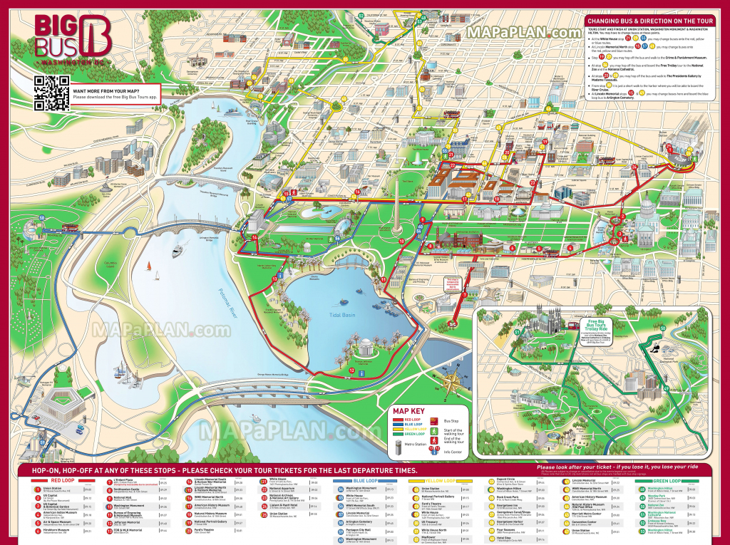 Washington Dc Maps - Top Tourist Attractions - Free, Printable City with Washington Dc Map Of Attractions Printable Map