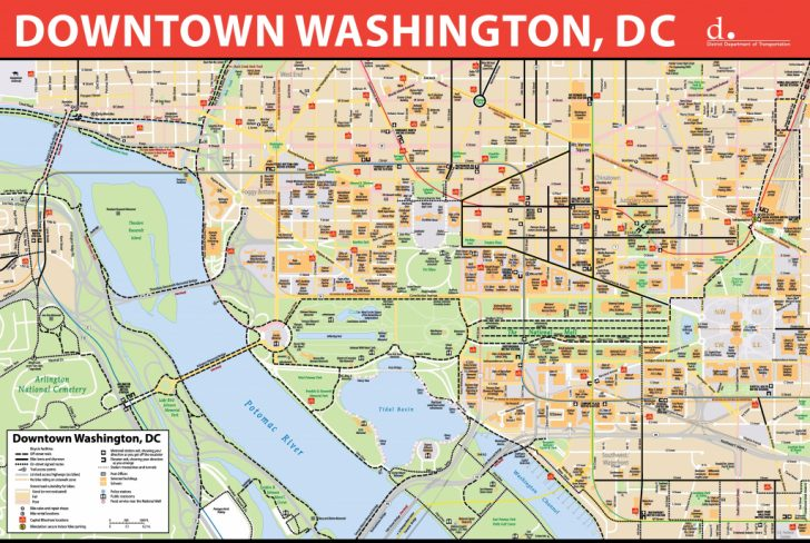 Printable Map Of Washington Dc Sites